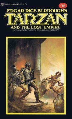 BORIS VALLEJO - art for Tarzan and the Lost Empire by Edgar Rice Burroughs - 1976 Ballantine paperback