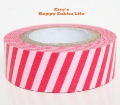 pink striped washi tape