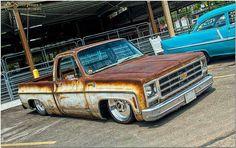 pics of rat rod trucks Bagged Trucks, Lowered Trucks, Mini Trucks, Gm Trucks, Cool Trucks, Pickup Trucks, Dually Trucks, Truck Drivers, Lowered C10