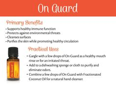doTERRA On Guard Essential Oil Uses