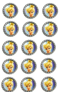 Tinkerbell Bottle Caps birthday PARTY set of by Stillwatersgifts, $9.99