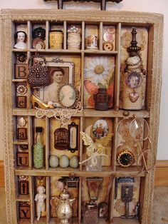 Shadowbox--using my found vintage items