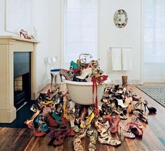 I think I just solved my shoe storage problem