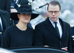 King Carl Gustaf, Queen Silvia, Crown Princess Victoria, Prince Daniel and Prince Carl Philip attended the funeral of Swedish industrialist and close friend Peter Wallenberg this morning at the Katarina kyrka, Stockholm.