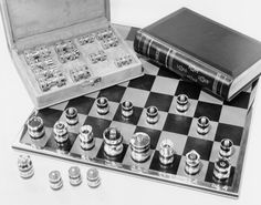 """Juego de Ajedrez """"Silver Jubilee"""" de Geoffrey Parker"""
