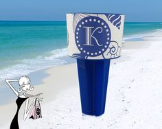 Personalized Beach Spike Drink Holder Monogram by onesassysister