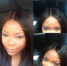 #hair #weaves  straight hair lace closure