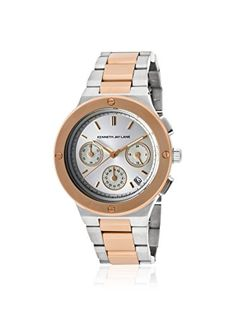 Kenneth Jay Lane Women's 2131 Two-Tone Silver/Rose Stainless Steel Watch