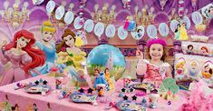 birthday decoration ideas | ... tell you some decorating ideas about Disney princess birthday party
