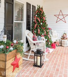 My Urban Farmhouse Christmas Front Porch - Worthing Court