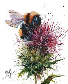 Sting (Limited Edition) by Georgina McMaster Art Prints Gallery provides top quality framed art prints from leading Scottish and International artists. Mother Nature Tattoos, Tattoo Nature, Image Deco, Natur Tattoos, Bee Painting, Animal Art Prints, Bee Tattoo, Bee Art, International Artist