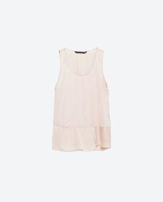 COMBINED PEPLUM TOP from Zara