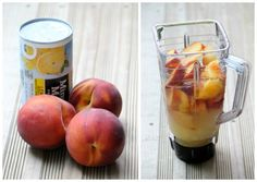 Delicious Peach Lemonade Slush – perfect BBQ & party drink! Or use raspberries or strawberries or any other fruit you would like!