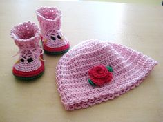 Custom order - Baby shoes Crochet baby crochet hat for a newborn baby girl children's shoes hat by BoryanacrochetBG on Etsy