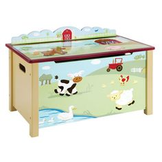 Farm Friends Toy Box - Overstock™ Shopping - The Best Prices on Kids' Furniture