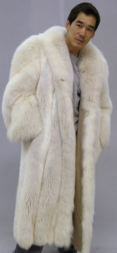 Krept White Fox Jacket London Rapper | Men's Fur Coats Jackets ...