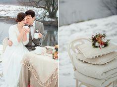 Winter wedding anniversary shoot