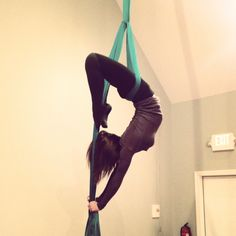 Aerial silks. My obsession! If you have never tried it, you must! Taking my aerial silk classes, along with my regular crossfit routine has made a huge difference in my body, plus it's amazing to do!