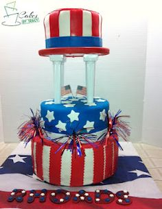 Cake I made for The Rhoads Family Reunion, Fourth Of July Themed 2012