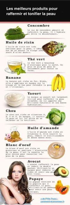 recettes naturelles tonifier peu visage anti-rides