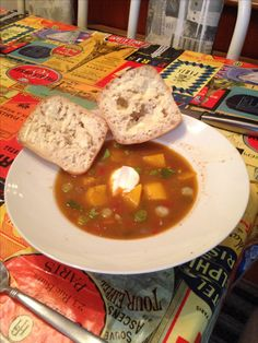Cowboy Blackbean soup. Thai Red Curry, Soup, Ethnic Recipes, Soups, Chowder
