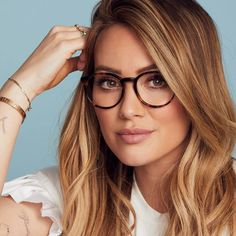 Hilary Duff Is Launching a Surprisingly Cute Line of Glasses.- Hilary Duff Is Launching a Surprisingly Cute Line of Glasses — and It's Super Affordable /… Duff Is Launching a Surprisingly Cute Line of Glasses — and It's Super Affordable - Glasses Outfit, Cute Glasses, New Glasses, Wearing Glasses, Ladies Glasses, Womens Glasses Frames, Glasses Style, Fashion Eye Glasses, Cheap Eyeglasses