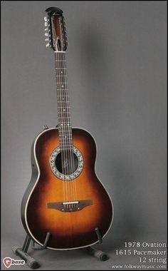 It's not often that you'd find an Ovation gracing the pages of our website. Most that we encounter haven't survived the years well, and just don't make the cut. This late Model 1615 Pacemake. 12 String Acoustic Guitar, Guitar Amp, Cool Guitar, Acoustic Guitars, Classic Nursery Rhymes, Rhymes Songs, Guitar Room, Learn To Play Guitar, Ovation Guitars
