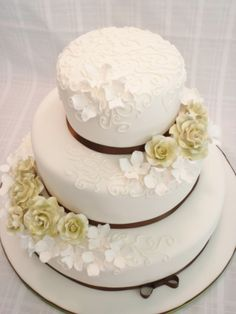Roses and Hydragea's By rearly on CakeCentral.com