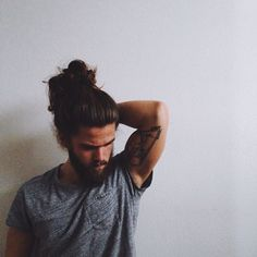 Man-candy with a man-bun, and not afraid to show it.