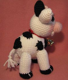 Ravelry: MollyMoo The Amigurumi Cow pattern by Armina Parnagian Blush On Cheeks, Cow Pattern, Crochet Basics, Softies, Poodle, Crochet Hooks, Hello Kitty, Crochet Patterns, Christmas Ornaments