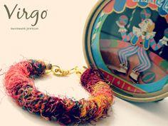 Handmade Fabric Ethnic Bracelet With by VirgoHandmadeJewelry Virgo Jewelry, Handmade Jewelry, Unique Jewelry, Handmade Gifts, Jewelries, Bracelet Sizes, Virginia, Ethnic, Crochet Earrings
