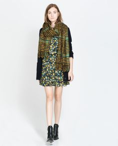 Image 1 of COMBINATION FLORAL DRESS from Zara