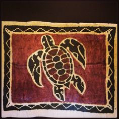 Tapa Cloth Painting Hawaiian Honu