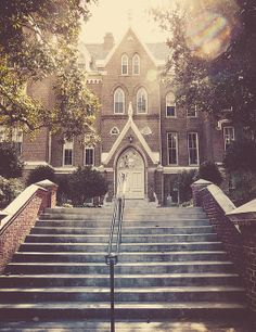 Late afternoon sunshine over R. Kirby Godsey Administration Building at Mercer University, Macon, Georgia - © Sherie B. LaPrade