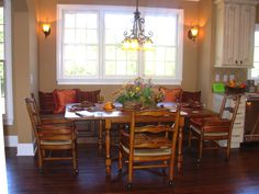 Luxe Homes And Design, Built In Breakfast Nook Eating Area, Custom Homes  Knoxville,