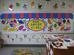 candyland themed classroom | Classroom Themes(CandyLand) / ice cream bulletin board sayings ...
