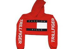 ca0990ff2a512d Fashion Killa x Trillfiger Crop Hoodie (Red)