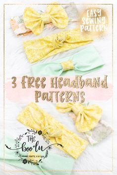 diy headband 3 Free Headband Patterns for baby, toddler, and child. Free bow, knot, and simple headband. Easy and fast diy Christmas or baby shower gift idea. Headband Bebe, Diy Baby Headbands, Fabric Headbands, Diy Hair Bows, Diy Bow, Baby Bows, Flower Headbands, Sewing Headbands, Knotted Headband