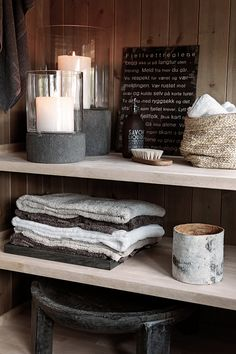 Open shelving. :) bathroom ideas for storage