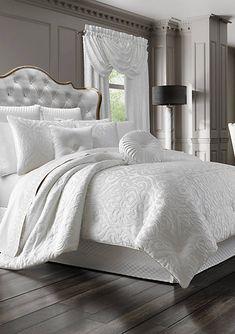 J Queen New York Astoria Comforter Set - Yatak odası - Bedding Master Bedroom Bedroom Comforter Sets, Queen Comforter Sets, Luxury Bedding Sets, Bedroom Sets, Home Decor Bedroom, Elegant Comforter Sets, King Size Bedding Sets, Bedding Decor, White Bedding