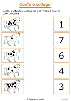 Giochi di Matematica per Bambini di 6-7 Anni da Stampare | PianetaBambini.it Printable Math Worksheets, Kindergarten Math Worksheets, Workout Schedule, Homeschool, Coding, Nursery, Classroom, Exercise, Education