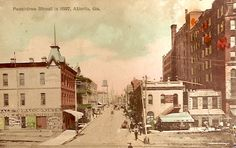 Peachtree St. in 1887  Postmarked in 1908.