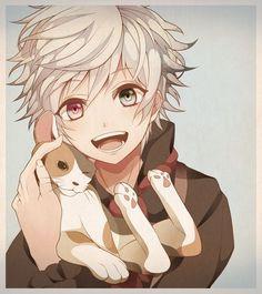 anime boy with blonde hair and blue eyes - Tìm với Google