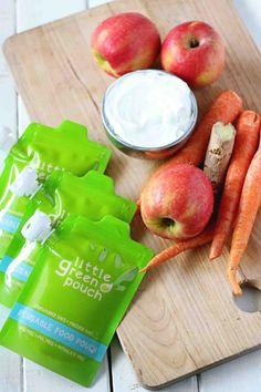 Carrot Apple Yogurt Blend - Perfect todler snack