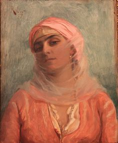 """""""Young Turkish Woman"""" Theodoros Ralli - Greek painter, School of French Academy, orientalist Art And Illustration, A4 Poster, Poster Prints, Greek Paintings, Renaissance Paintings, Ouvrages D'art, Greek Art, Classical Art, Vintage Artwork"""