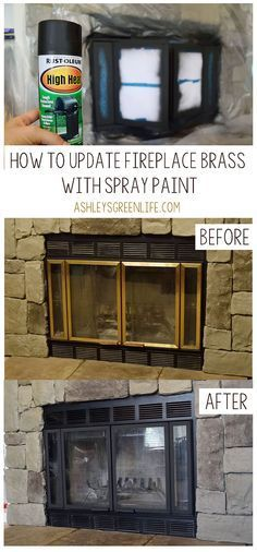 Sick Of Looking At Brass On Your Fireplace Learn How I Updated My Old Looking Brass To A Modern Diy Fireplace Makeover Brass Fireplace Makeover Diy Fireplace