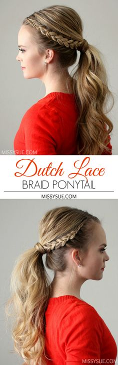 Dutch Lace Braid Ponytail
