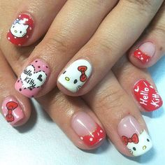 Hello Kitty Nail Art! Yay! Unless you have been living under a rock for the past 50 years, I am sure you have heard of Hello Kitty. We happen to really love anything Hello Kitty so we decided to create a list of the Best Hello Kitty Nail Art we could find.