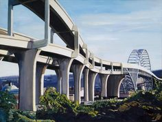 Christopher Mooney. You'd never think that the approaches to the Fremont Bridge would be so beautiful (well, maybe if they were actually re-painted, so they looked this good).