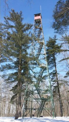 Wyandotte Fire Tower - O'Bannon Woods State Park - Crawford County Indiana - February 2015